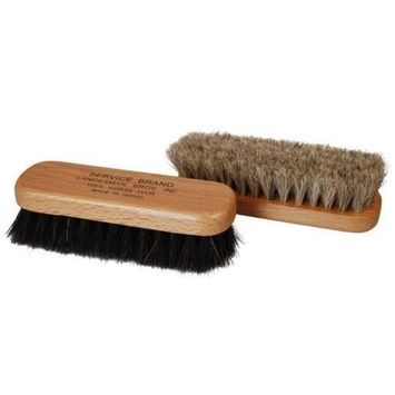 Professional Quality MINI Shoe Shine Buffing Brush 100% Horse Hair Wood Handle