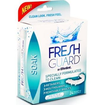 Fresh Guard Soak Specially Formulated for Retainers Mouthguards and Removable Braces 24 Count