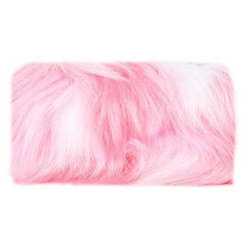 Skinnydip Pink Fluffy Makeup Bag