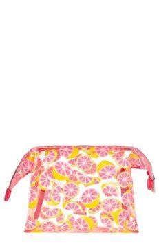 Skinnydip Skinny Dip Glitter Grapefruit Cosmetics Case, Size One Size - No Color