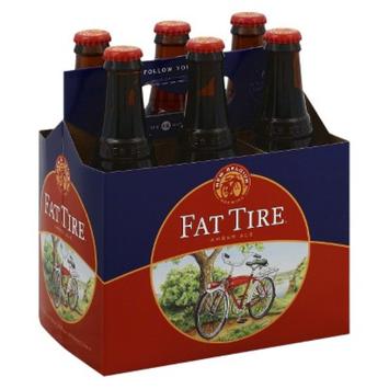 Fat Tire Amber Ale Bottles 12 oz, 6 pk