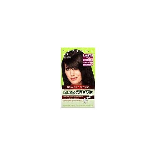 Clairol Balsam Lasting Color Browns Collection Creme Hair Color, Brown Black (617)