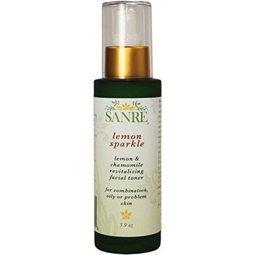 SanRe Organic Skinfood - Lemon Sparkle - Organic Lemon and Chamomile Revitalizing Facial Toner For Oily/Combination to Acne Prone Skin