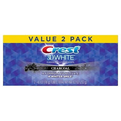 Crest 3D White Charcoal Whitening Toothpaste - 4.1oz/2pk