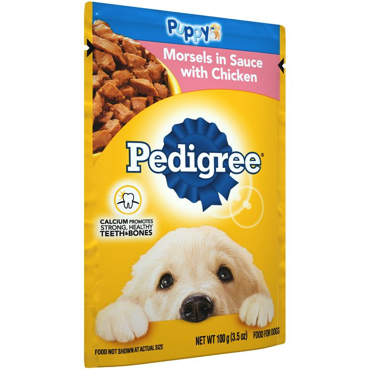 Pedigree® Puppy Morsels In Sauce With Chicken Food For Dogs
