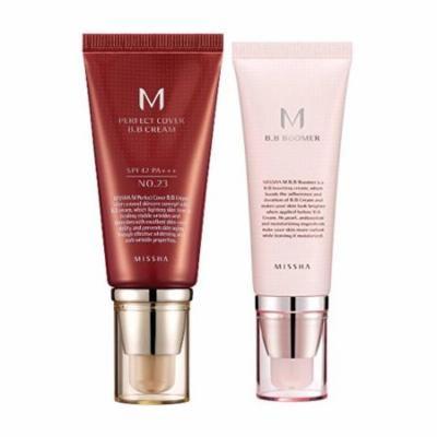Missha M Perfect Cover BB Cream # No.23 Natural Beige 50ml + M BB Boomer 40ml