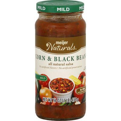 Meijer Naturals Salsa Mild Corn And Black Bean