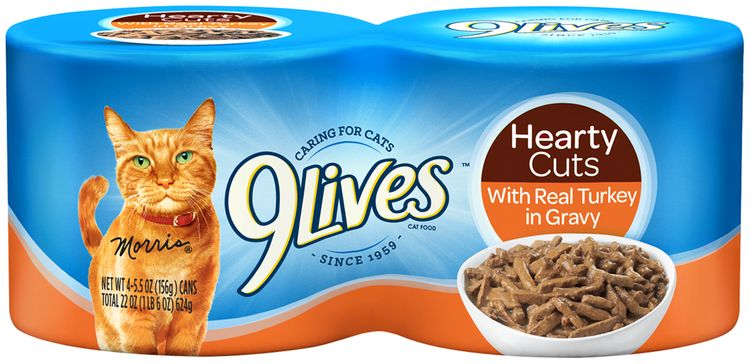 9Lives Hearty Cuts with Real Turkey in Gravy Wet Cat Food