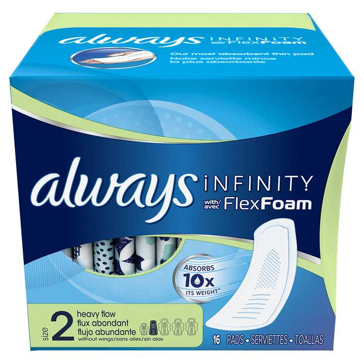 Always Infinity Size 2 Super Pads Non-Wings Unscented