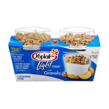 Yoplait® Light Peach With Granola Fat Free Yogurt