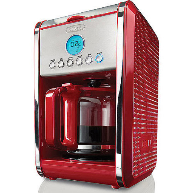 Bella Red Programmable Coffee Maker - 12 cup