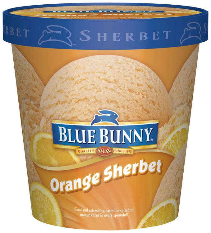 Blue Bunny Orange Sherbet