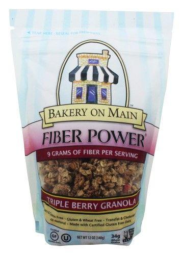 Bakery On Main - Fiber Power Granola Gluten Free Triple Berry - 12 oz(pack of 4)