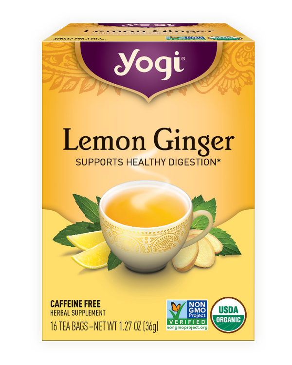 Yogi Tea Lemon Ginger Healing Formula Herbal Tea