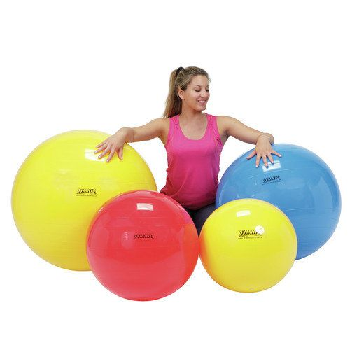 """Cando PhysioGymnic Ball and Roll-18"""" (Yellow) Ball"""