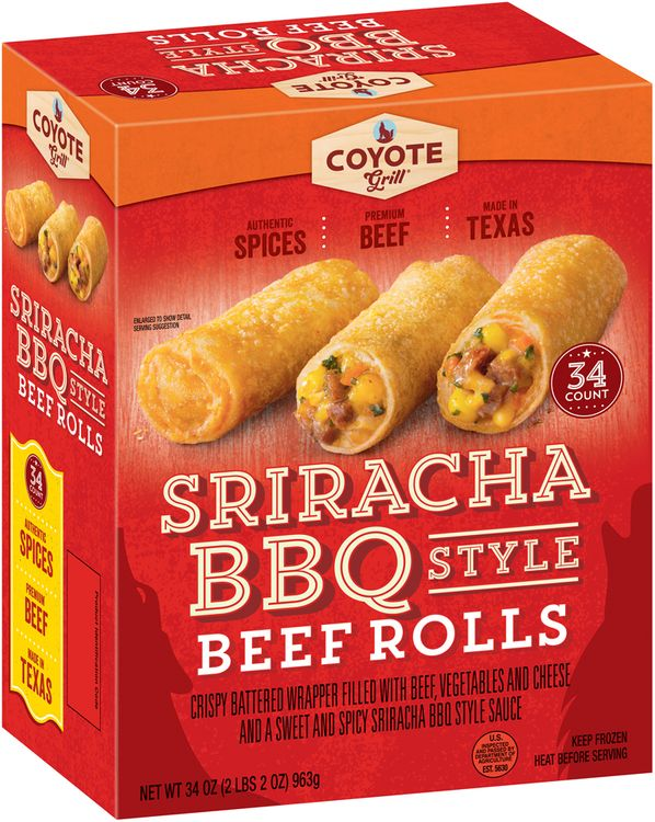 Coyote Grill® Sriracha BBQ Style Beef Rolls