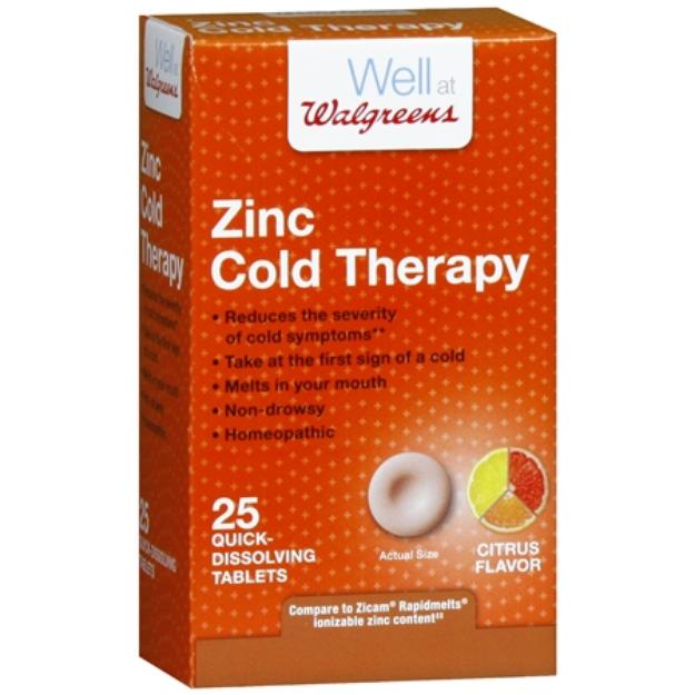 Walgreens Zinc Cold Therapy Quick Dissolving Tablets