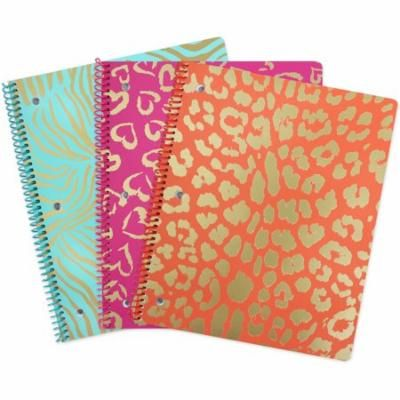 WILD SIDE 1 SUBJECT NOTEBOOK 80CT (CR) 3 PK