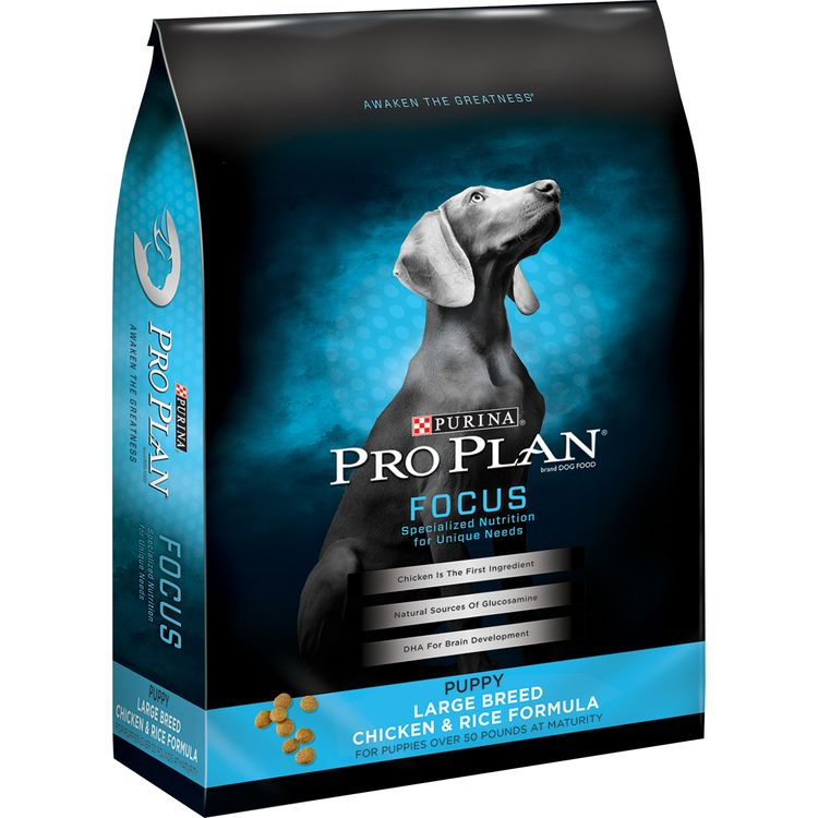 Purina Pro Plan FOCUS Large Breed Chicken & Rice Formula Dry Puppy Food