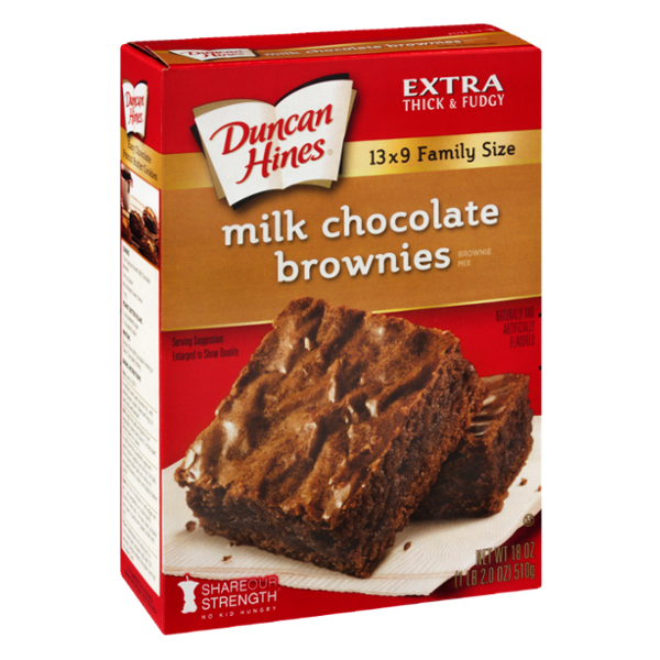 Duncan Hines Extra Thick & Fudgy Brownie Mix Milk Chocolate Family Size