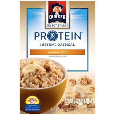Quaker® Protein Instant Oatmeal Banana Nut