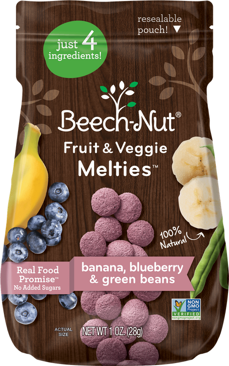 Beech-Nut banana, blueberry & green beans fruit & veggie melties™
