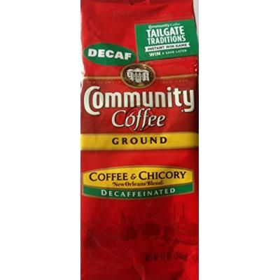 Community New Orleans Blend Decaf Coffee and Chicory 12 Oz Bag, Pack of 3