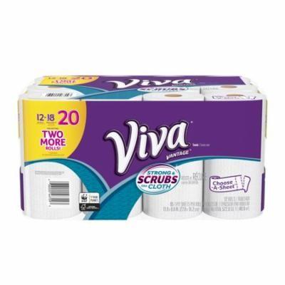 Viva Vantage Paper Towels, Choose-A-Sheet, 12 Big Rolls