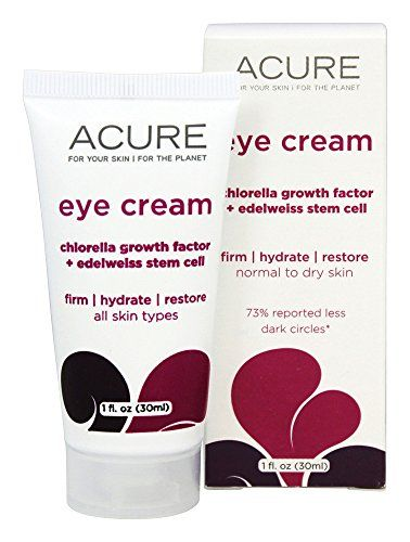 Eye Cream Chlorella Edelweiss Stem Cell Acure Organics 1.0 oz Cream