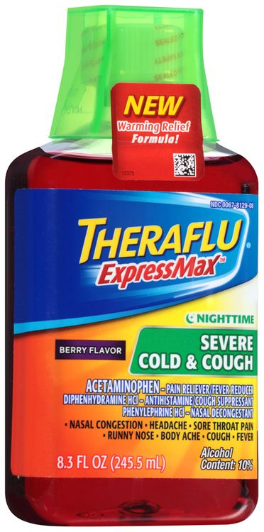 Theraflu® ExpressMax™ Nighttime Berry Flavor Severe Cold & Cough Liquid