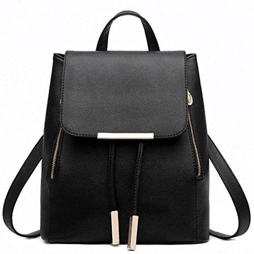 Leather Handbag Shoulder Bag,Rakkiss Woman Messenger Tote Large Capacity Bags Vintage Messenger Satchel Bags