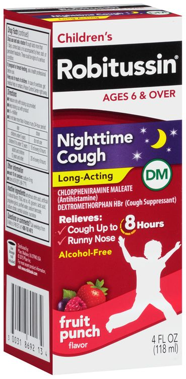 Children's Robitussin® Nighttime Cough Long-Acting DM