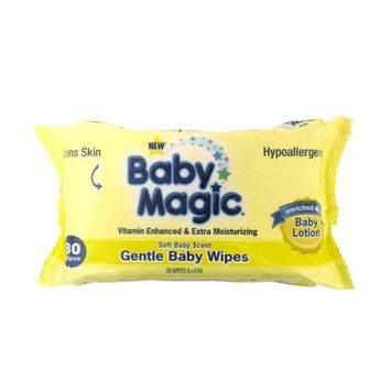 Us Nonwovens Baby Magic Soft Powder Scent Scented Baby Wipes (72-count)