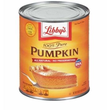 Libbys 100% Pure Pumpkin, 29-Ounce Cans (Pack of 2)