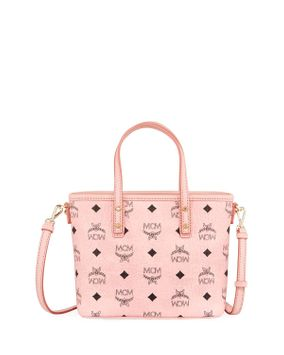 Mcm Anya Top Zip Shopper In Visetos