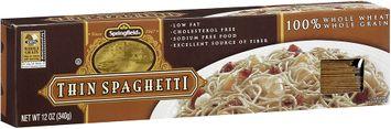 Springfield® Thin Spaghetti 100% Whole Wheat/Whole Grain