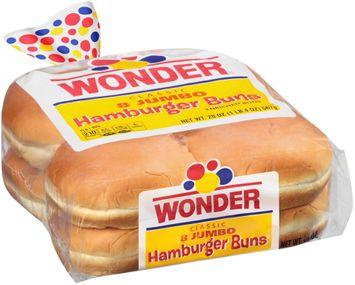 Wonder® Classic Jumbo Hamburger Buns 8 ct Bag