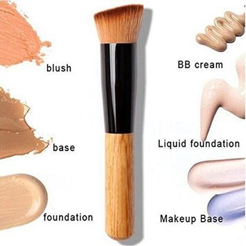 Contour like a Pro - Multi-Function Makeup Kabuki Brush for: Powder, Concealer, Blush, Liquid Foundation