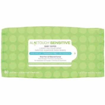 Medline Aloetouch Sensitive Fragrance Free Baby Wipes, 80 count, (Pack of 24)