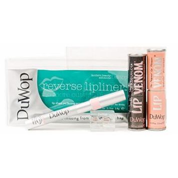 DuWop 3-Piece Gift Set - Lip Plumping Lip Venom, Pink Shimmer and Reverse Lipliner