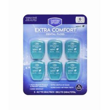 Berkley Jensen Extra Comfort Dental Floss Mint 43.7 Yard - 6 Pack