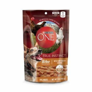 Purina ONE True Instinct Bites With Farm-Raised Chicken Dog Treats, 7 oz. Pouch