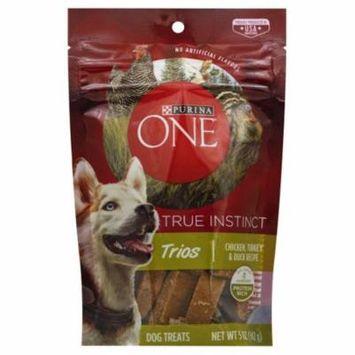 Purina ONE True Instinct Trios Chicken, Turkey & Duck Recipe Dog Treats, 5 oz. Pouch