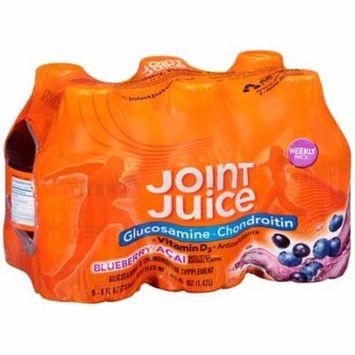 (2 pack) Joint Juice Glucosamine & Chondroitin Supplement, Blueberry Açai, 8 Fl Oz, 6 Ct