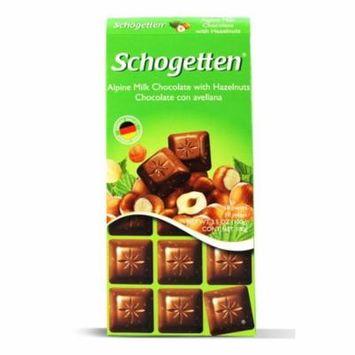 Schogetten, Alpine Milk Choc Hazelnuts 3.5oz (5 pcs)
