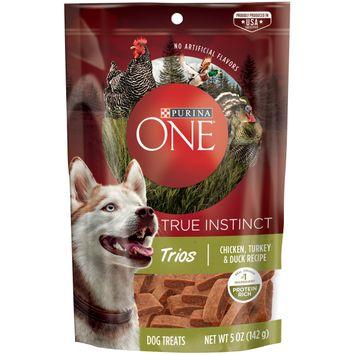 Purina ONE True Instinct Trios Chicken, Turkey & Duck Recipe Dog Treats -