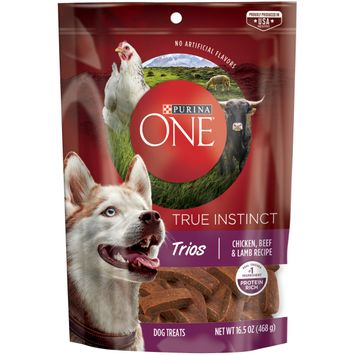 Purina ONE True Instinct Trios Chicken, Beef & Lamb Recipe Dog Treats -