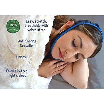Anti Snore Chin Strap Device Snore Stopper Relief for Men and Women by Siesta
