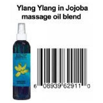 8 Oz 100% Natural Ylang Ylang in Jojoba Massage Oil Blend