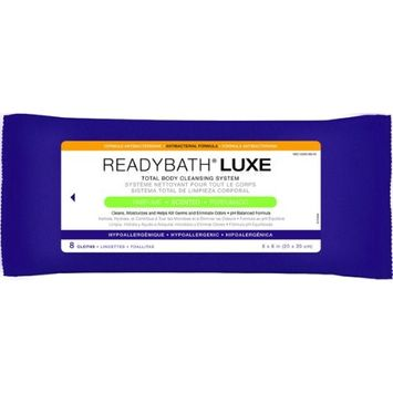Medline ReadyBath Luxe 8 x 8 Inch Cloth - 8 Per Pack / Pack of 12
